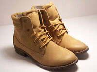 Candies Capowell Womens Shoes Ankle Boots Lace Up Boots Tan