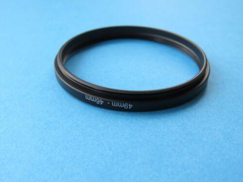 49mm a 46mm Anillo Retencion paso a paso anillo adaptador de filtro de lente de cámara 49mm-46mm