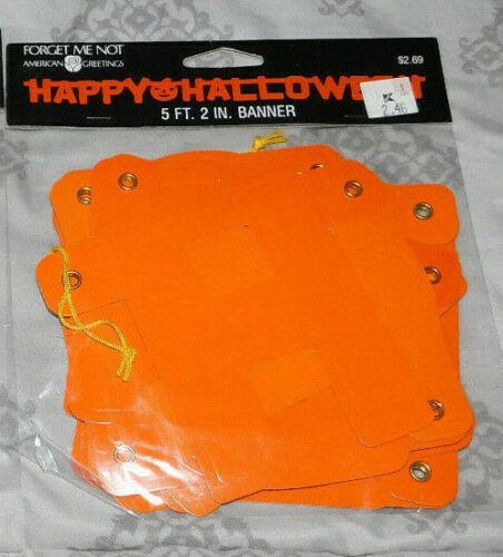 "2 IN. NIP VINTAGE /""HAPPY HALLOWEEN BANNER FOR YOUR HALLOWEEN PARTY--5 FT"