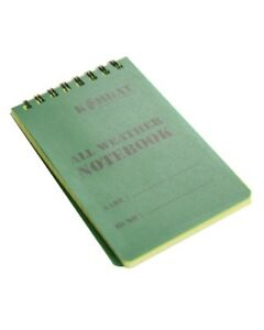 BRITISH ARMY STYLE A6 WATERPROOF NOTE BOOK