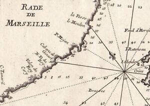 Carte-Geographique-XVIIIe-Rade-Marseille-1764-Iles-Pomegues-Ratonneau-Tiboulen