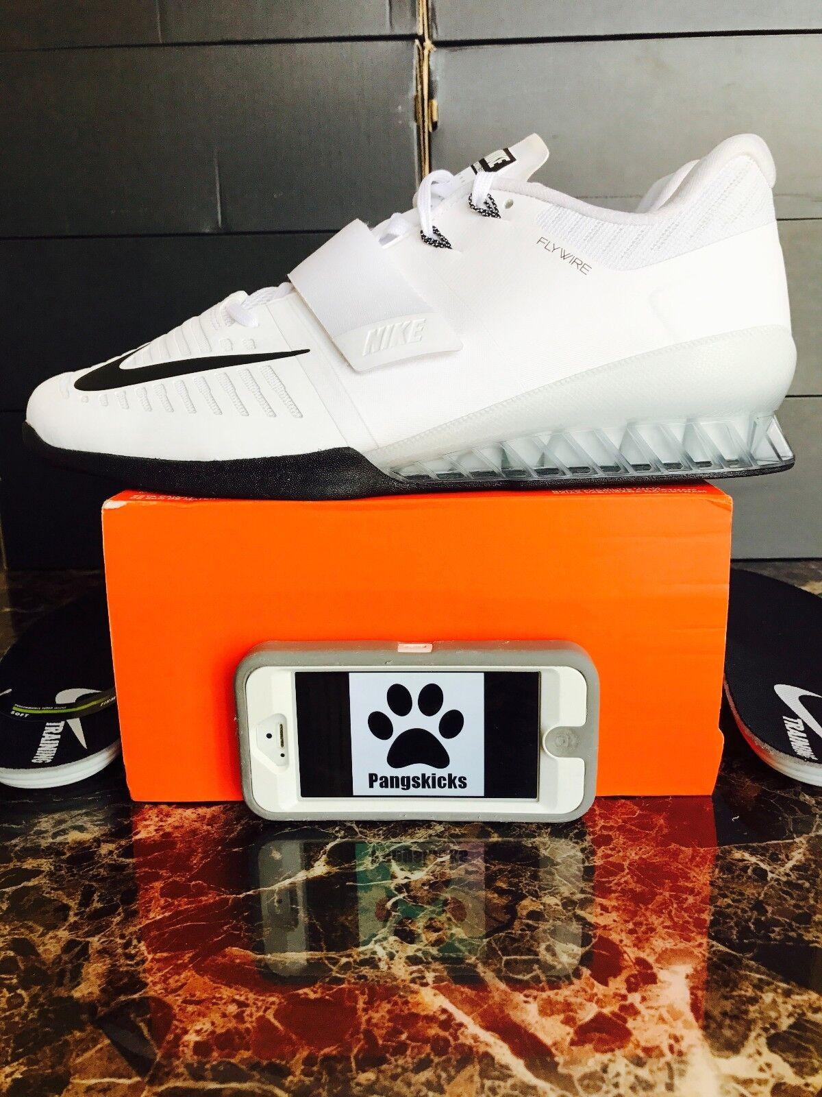 Nike Romaleos 3 Weightlifting White Black 852933-100 Size 11-14
