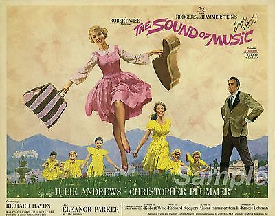 VINTAGE THE SOUND OF MUSIC MOVIE POSTER A2 PRINT