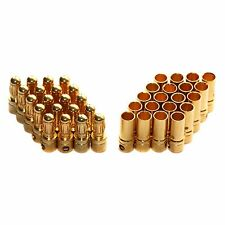 20 pairs 3.5mm Gold Bullet Connector plug