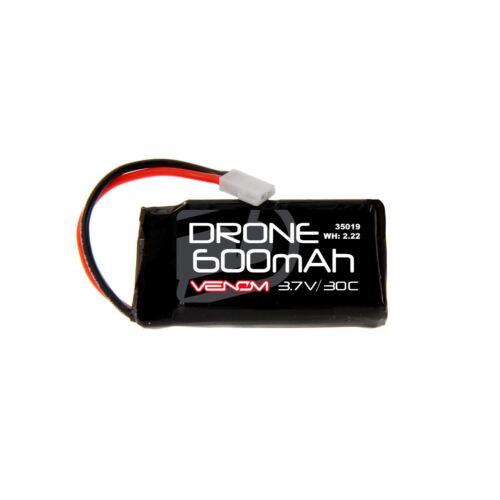 Venom Racing 30C 1S 600mAh 3.7V LiPo Drone Battery with Micro Losi Plug