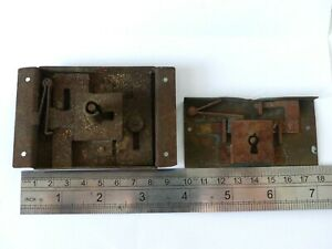 2-x-Large-Antique-19th-Century-French-Box-Casket-Table-Cabinet-Locks