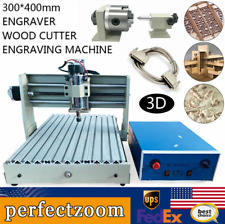 4 Axis Cnc 3040 Router Engraver Engraving Carving Milling Drilling Machine Us