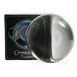 11CM-LARGE-CRYSTAL-BALL-ORB-HEALING-CLEAR-WICCA-PAGAN-MAGIC-HALLOWEEN