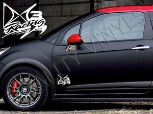 p16 citroen ds3 racing door logo graphics decal stickers ebay. Black Bedroom Furniture Sets. Home Design Ideas
