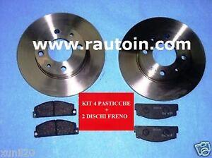 AUTOBIANCHI-A112-Abarth-SET-DISCHI-PASTICCHE-FRENI-Brakes-Discs-Kit