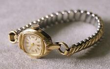 Bulova 10K gold plate vintage 17 jewel mech. wind up watch. Runs. A&Z band