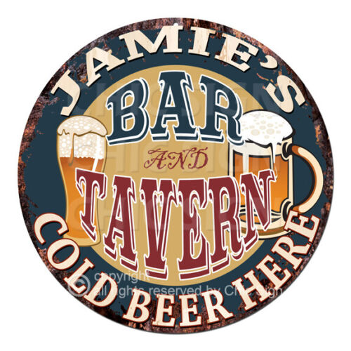 CPBT-0233 JAMIE/'S BAR N TAVERN COLD BEER HERE Sign Father/'s Day Gift For Man
