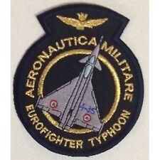 [Patch] EUROFIGHTER TYPHOON AERONAUTICA MILITARE v2 cm 8,5x9,5 toppa ricamo -364