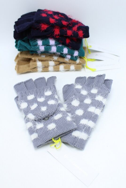 Liberal New Bcbgeneration Dot To Dot Pop Top Convertible Gloves #fg31 A Great Variety Of Goods