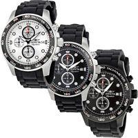 Invicta Signature II Tachymeter & Chronograph Rubber Strap Mens Watch