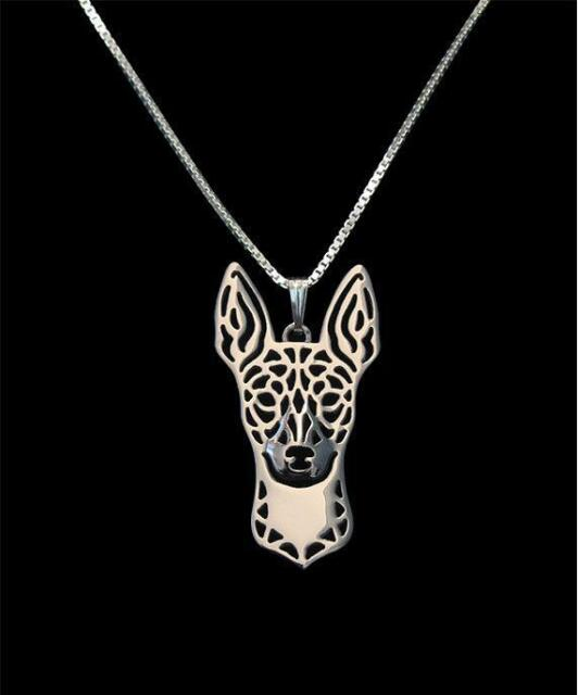 Rat Terrier Silver Charm Pendant Necklace, Dog Lover, Friend Gift