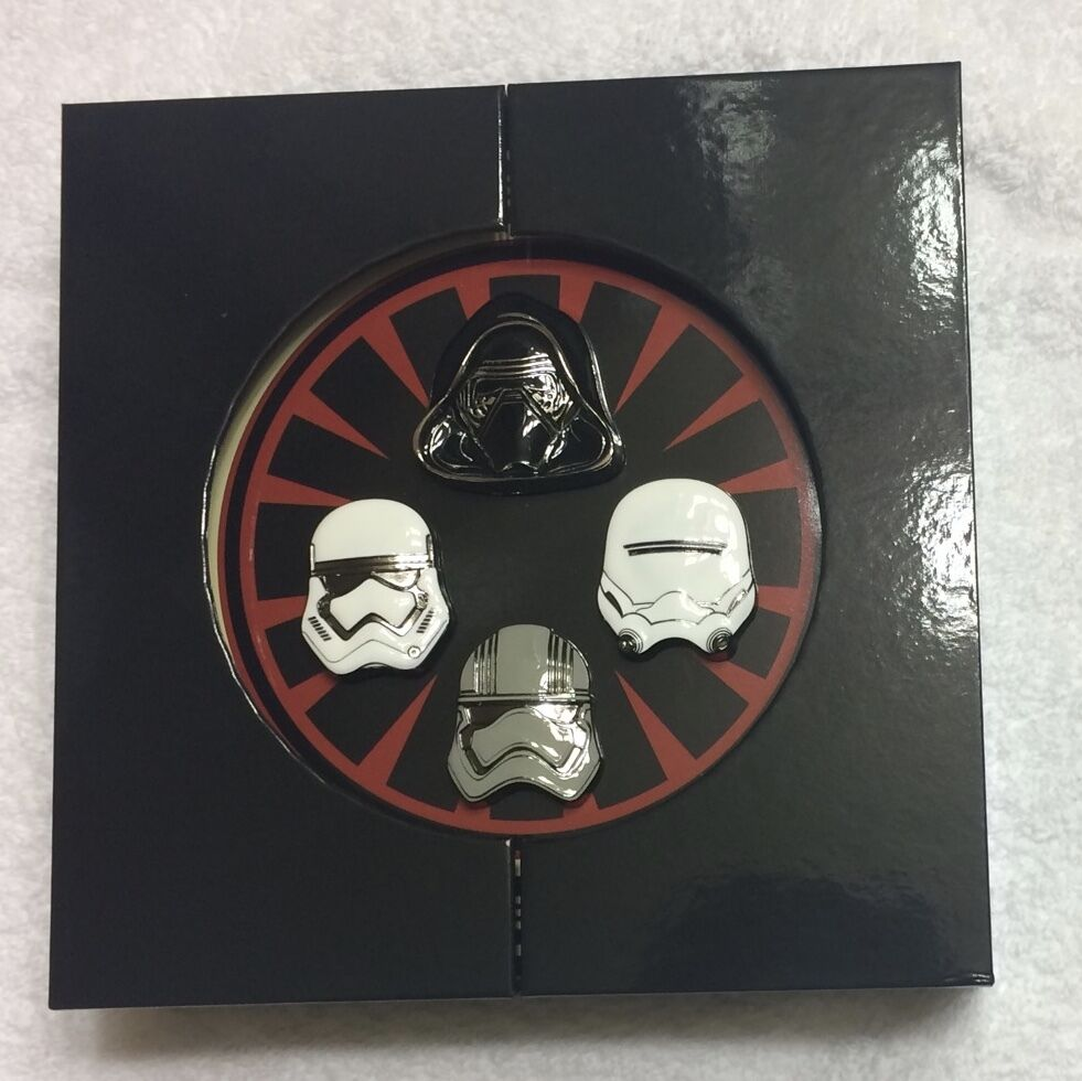 Star Wars First Order Casque de 4 Broches le 1000 Kylo Ren Captain Phasma 2016