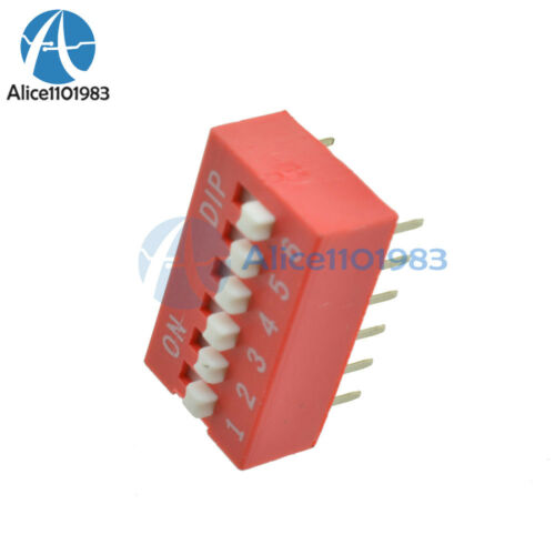 Módulo de conmutador Deslizante Tipo 10PCS 2.54mm 6-Bit 6 posición forma Dip Tono Rojo