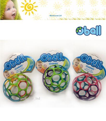 "Oball 4/"" Soft Links Teething Bath Travel Pram Rattle Activity Baby Toys-Classic"
