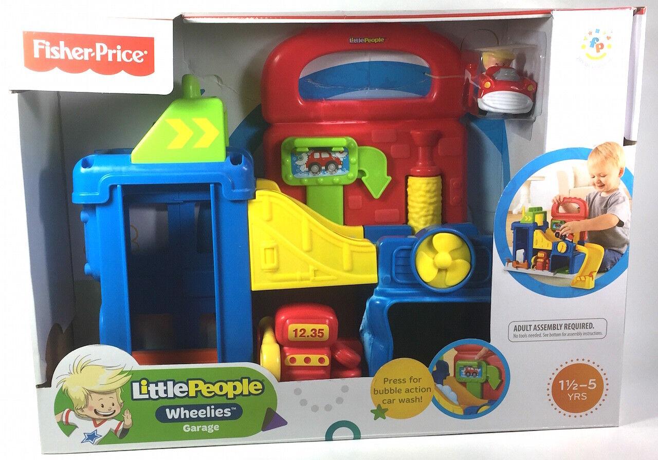 Fisher Price Little People Wheelies Garage Gas Station Car Wash Damaged In Box For Sale Online