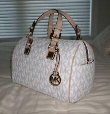 13d9c805a388 ... item 8 NWT Michael Kors Medium Chain GRAYSON Satchel Bag MK Sig Logo  Navy White PVC ...