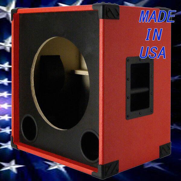 1X15 Bass Guitar Speaker Empty Cabinet Fire Hot rot Tolex 440LIVE BG1X15SBF