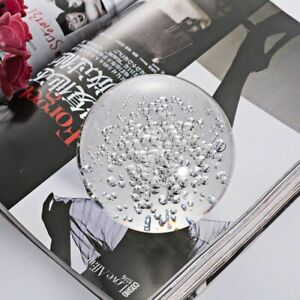 2pcs/Lot Clear Glass Paperweight Bubbles Ball Decorative Ornaments Fengshui