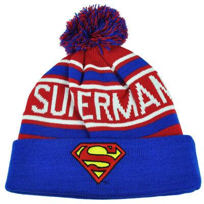 Baseball & Softball Temperamentvoll Superman Gestrickte Mütze Pom Bündchen Gestreift Rot Super Hero Hut Warner Bros Wir Nehmen Kunden Als Unsere GöTter