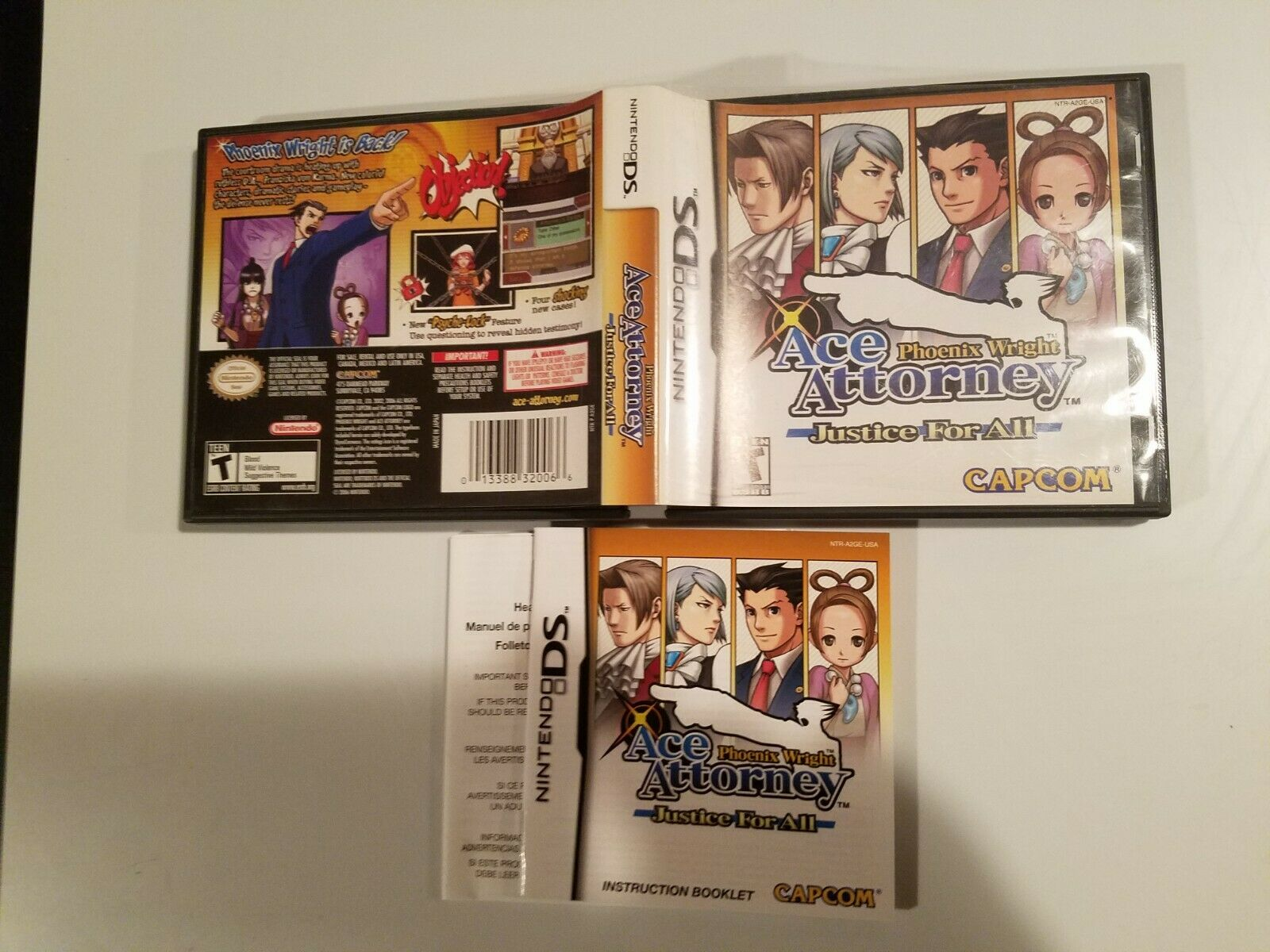 Phoenix Wright: Ace Attorney Justice for All (Nintendo DS, 2007) *NO GAME* 1