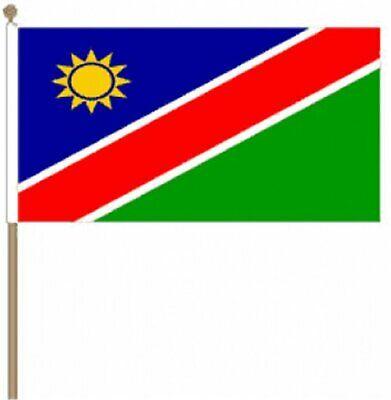 Analytisch 12 Stück Namibia (22.9cm X 15.2cm) Hand Winkfahne SchöN In Farbe