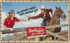 DRINK DR. PEPPER ADVERTISING METAL SIGN
