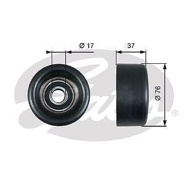 v-ribbed belt GATES T38028 Deflection//Guide Pulley
