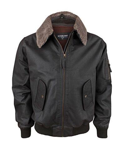 Gents Leather jacket Aviator fur collar detachable collar