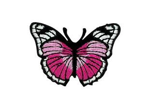 Patch-Embroidered-Badge-Flag-Backpack-Butterfly-Pink-Thermoadhesive