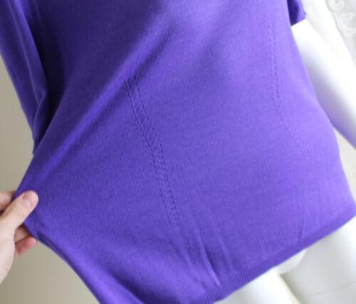 Escadasz wol trui paarse luxe fijn zijde kasjmier gebreide Prachtige 44 Top FJ35T1Kcul