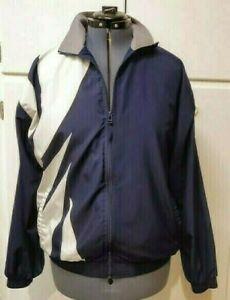 Vintage-90s-PUMA-Navy-White-Sports-Lined-Track-Bomber-Jacket-Coat-Sz-M-Medium