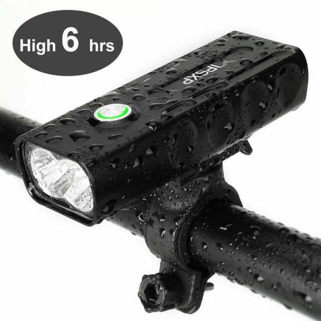 New Bicycle Headlight USB Rechargeable 2*Cree LEDs 1000 Lumen Bike Front Light