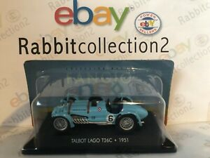DIE-CAST-034-TALBOT-LAGO-T26C-1951-034-COLLECTION-MUSEO-FANGIO-1-43