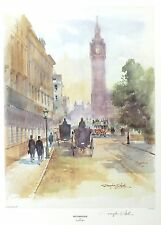 "DOUGLAS WEST ""Westminster"" parliament big ben SGD LTD! SIZE:47cm x 36cm NEW RARE"