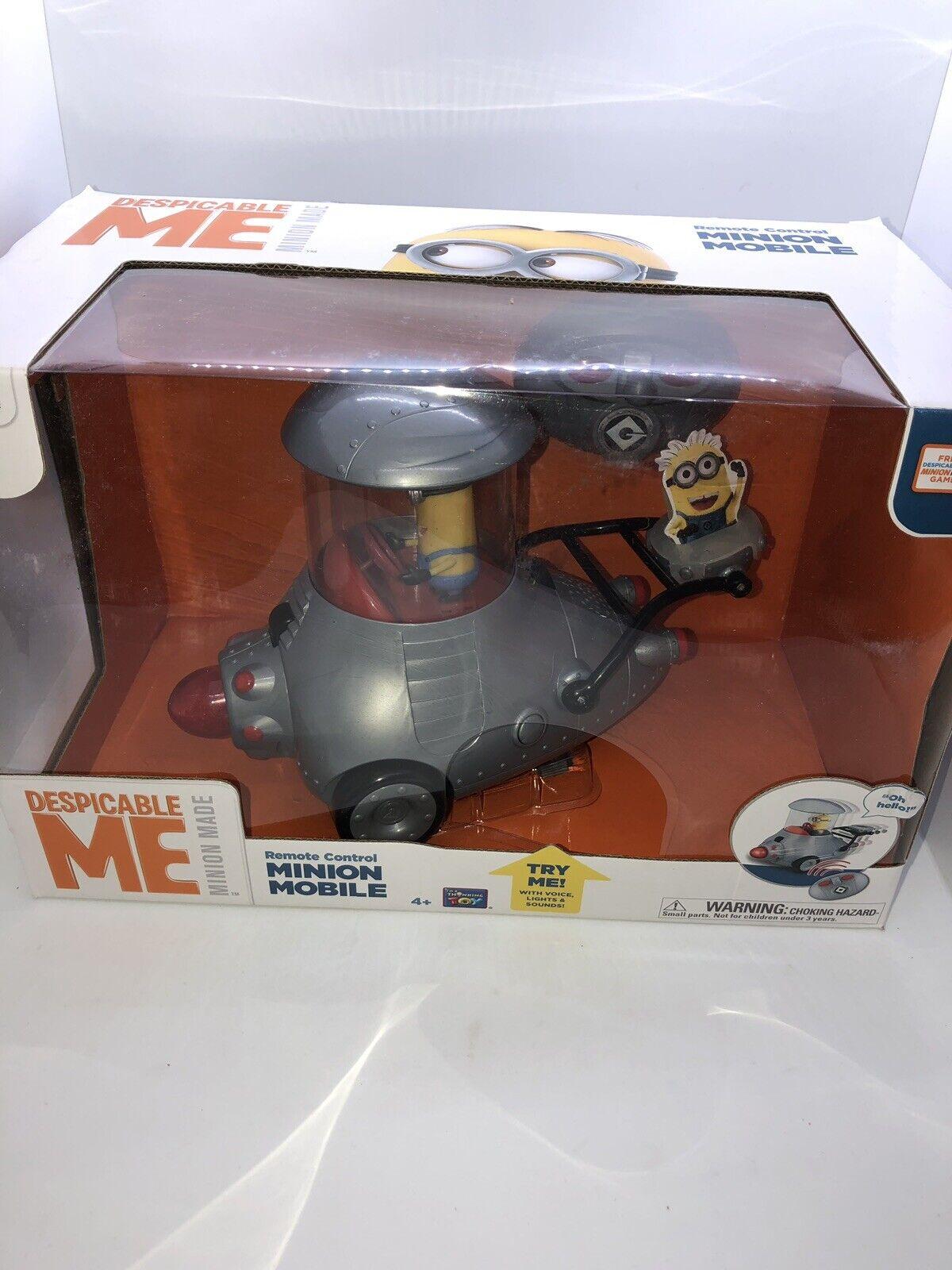 Rare Despicable Me 2 Remote Control Minion Mobile Thinkway Toys RC Car MIB