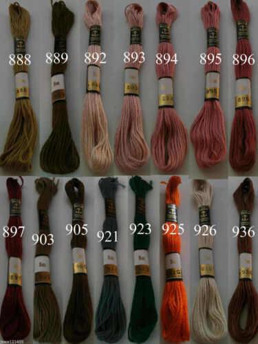 6 anchor point de croix fil de coton crochet broderie Floss Skiens choisir couleur