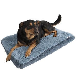 Dog-amp-Cat-Pet-Bed-Bolster-Foam-Deluxe-Bedding-Cuddler-Fluffy-Pillow-Large-Blue