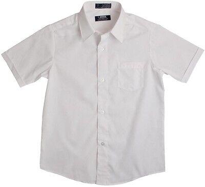 Boys French Toast Button Down Short Sleeve Dress/School Uniform Shirt