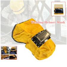 Leather Cnc Welder Welding Hood Hat Helmet Mask Filter Lens Eye Face Protection