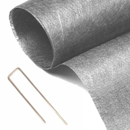 Pack MGS géotextile 90grs gris 2Mx25M soit 50M2 10 packs de 10 Hooks