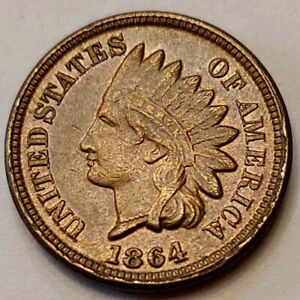 1864-CN-Indian-Head-Cent-Grading-XF-Nice-Coin-Priced-Right-FREE-S-amp-H-i83