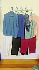 Lot Womens sz 12 Capris & sz L Tops Jones NY, Calvin Klein, GAP, Tee Shop + More