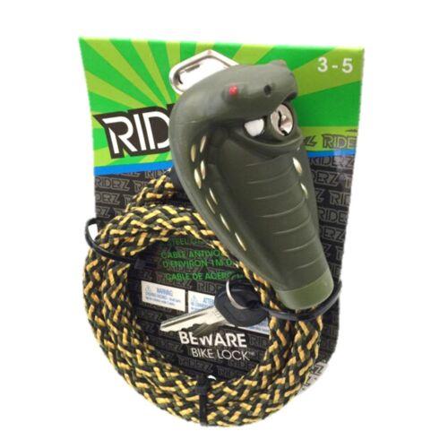 Riderz Cobra Head Cloth Coat Steel Cable Bike Lock