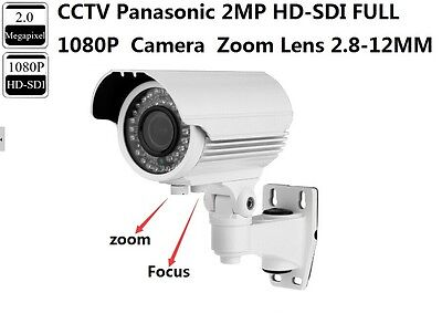 CCTV Panasonic 2.0 MP HD-SDI Full 1080P Zoom Lens 2.8-12mm White SDI IR Camera