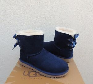 Image is loading UGG-NAVY-BLUE-DIXI-FLORA-PERF-MINI-BAILEY-